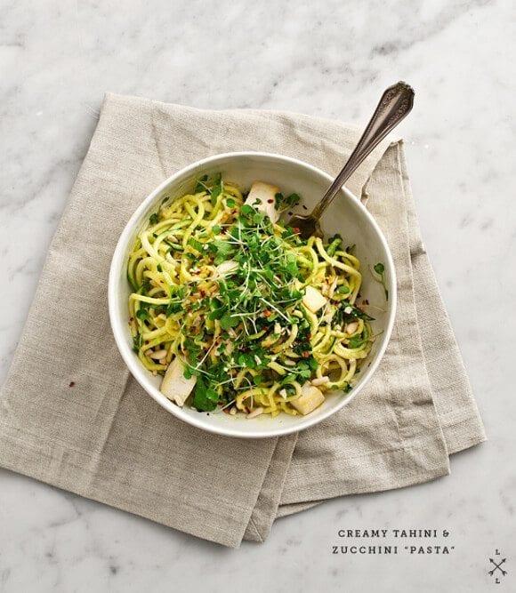 Healthy seasonal whole food recipes blog love and lemons tahini zucchini noodles forumfinder Images