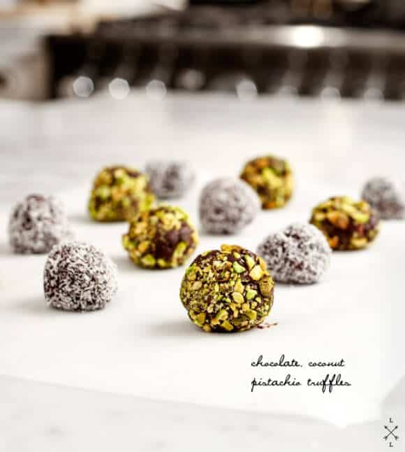 Pistachio Coconut Vegan Truffles // Love and Lemons