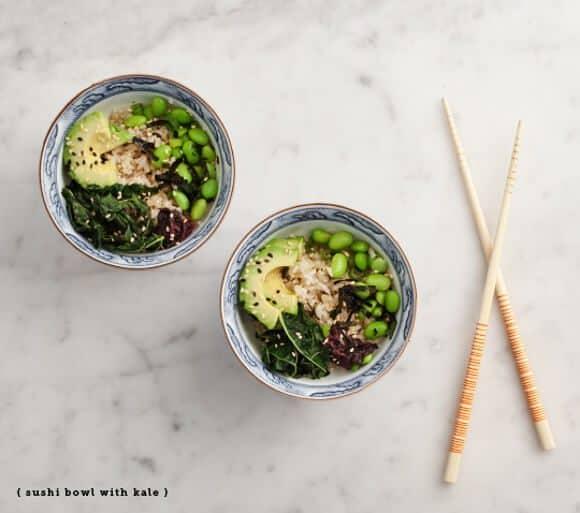 Sushi bowl with crispy kale / loveandlemons.com