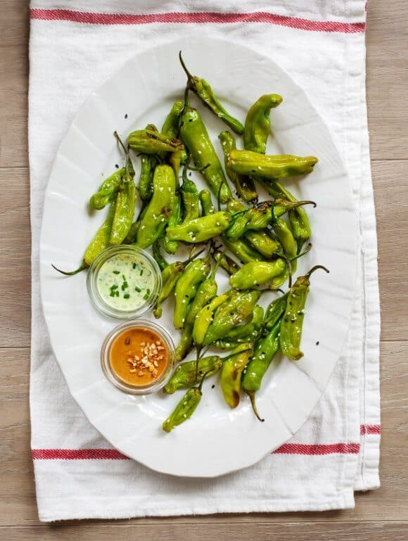 roasted shishito peppers // loveandlemons.com