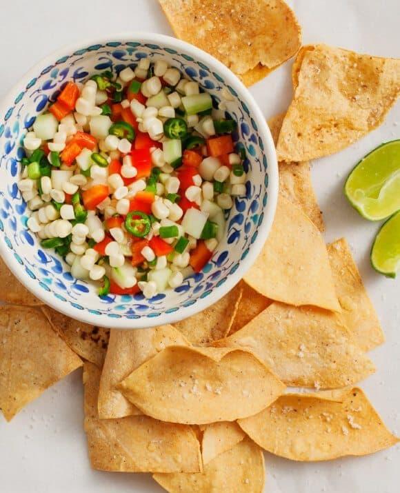 serrano & corn salsa // loveandlemons.com
