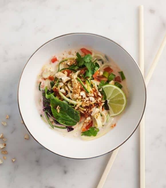 zucchini lemongrass coconut noodles // loveandlemons.com