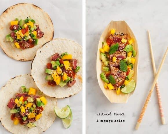 Seared tuna with mango sesame salsa / loveandlemons.com