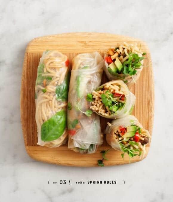 peanut soba spring rolls / loveandlemons.com