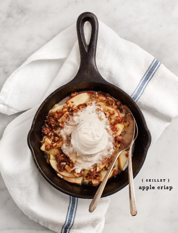 Skillet Apple Crisp / @loveandlemons