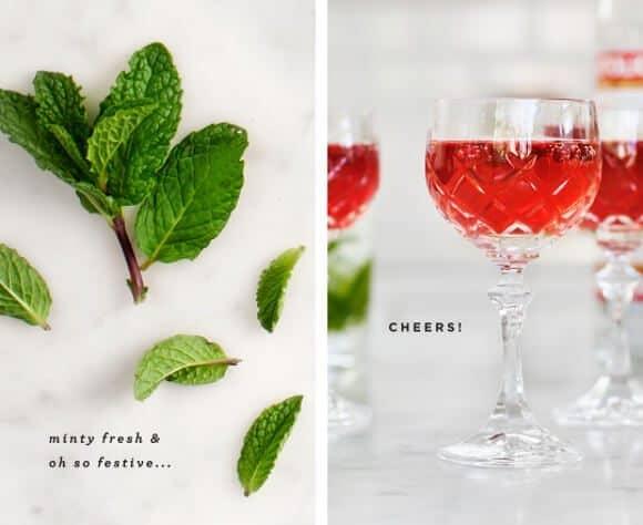minty pomegranate spritzer / @loveandlemons