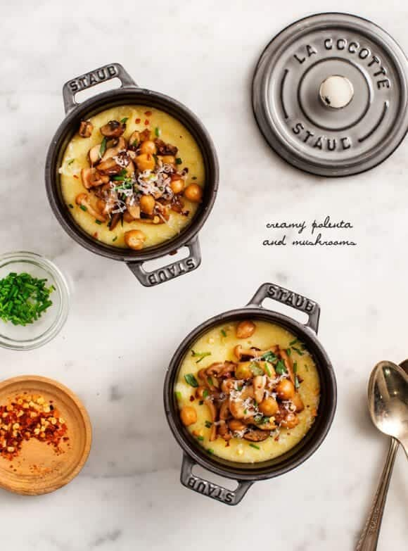 creamy polenta and mushrooms / @loveandlemons