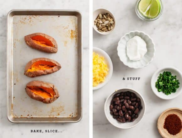 (healthy) loaded baked sweet potatoes / loveandlemons.com