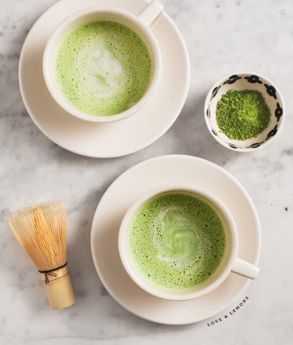 matcha coconut latte / loveandlemons.com