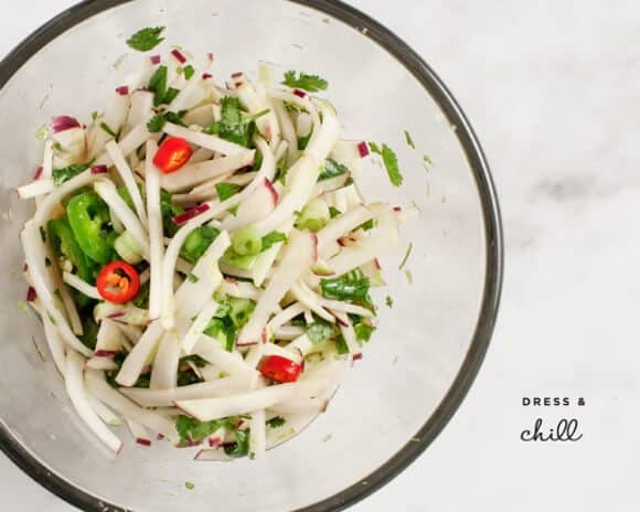 spicy kohlrabi noodles / loveandlemons.com