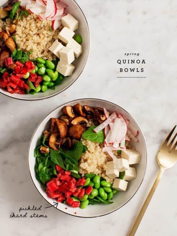 spring quinoa bowls (w/ pickled chard stems) / loveandlemons.com