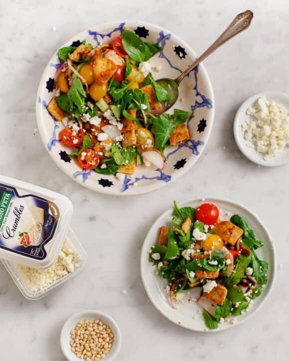 feta and harissa fattoush salad @loveandlemons