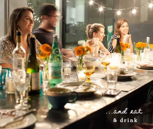 dinner party with The Yellow Table / loveandlemons.com