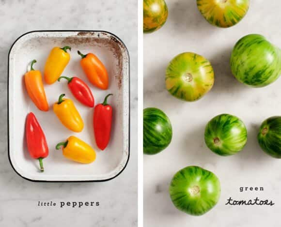 stuffed peppers w/ green tomato salsa / @loveandlemons