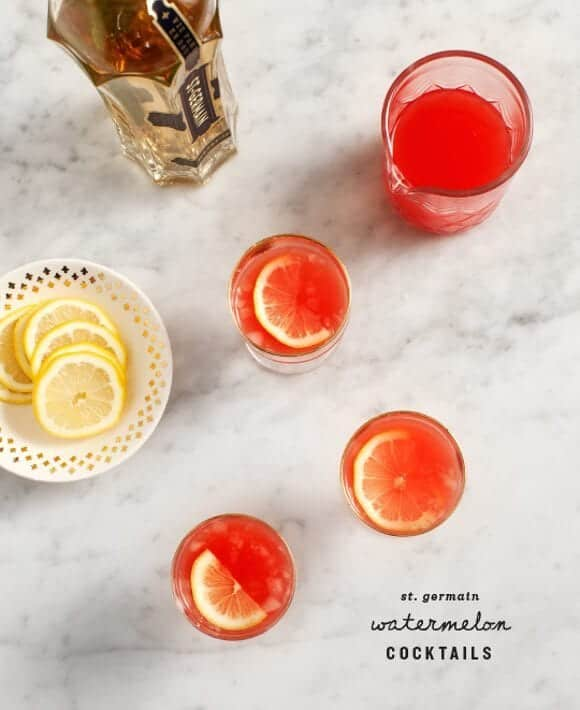 Watermelon St. Germain Cocktails / @loveandlemons