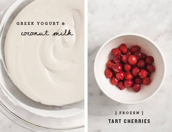 Tart Cherry Frozen Yogurt / @loveandlemons