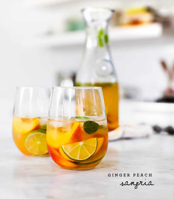 Ginger Peach Sangria / @loveandlemons