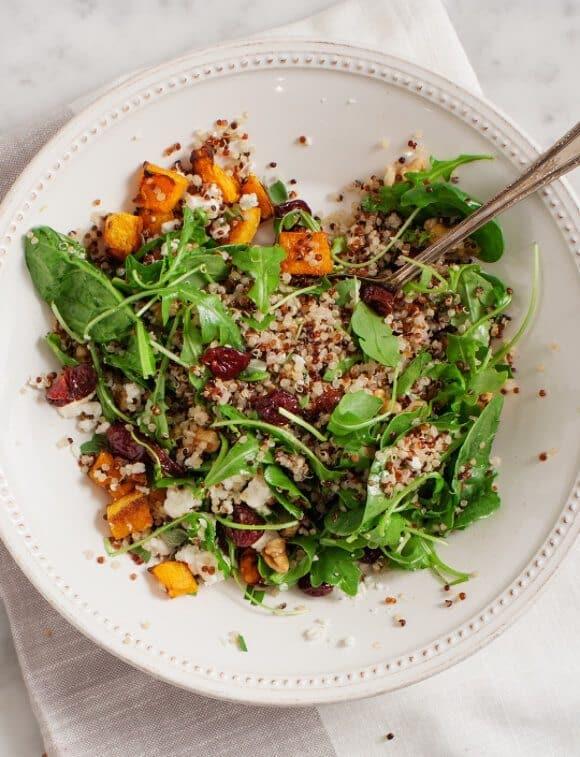 Butternut Squash & Tart Cherry Quinoa Salad / @loveandlemons