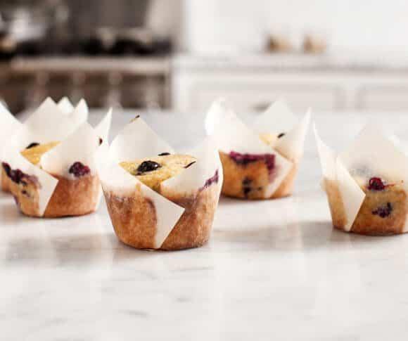 Gluten Free Blueberry Banana Muffins / @loveandlemons