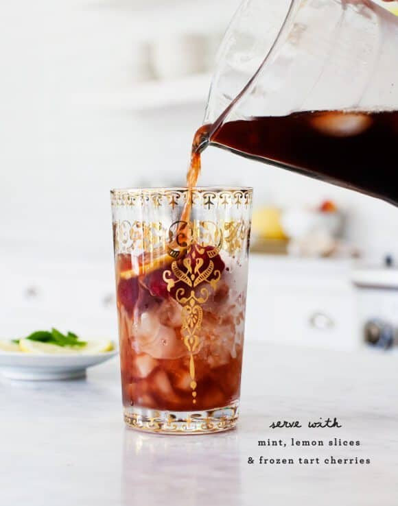 Tart Cherry & Mint Iced Tea / @loveandlemons