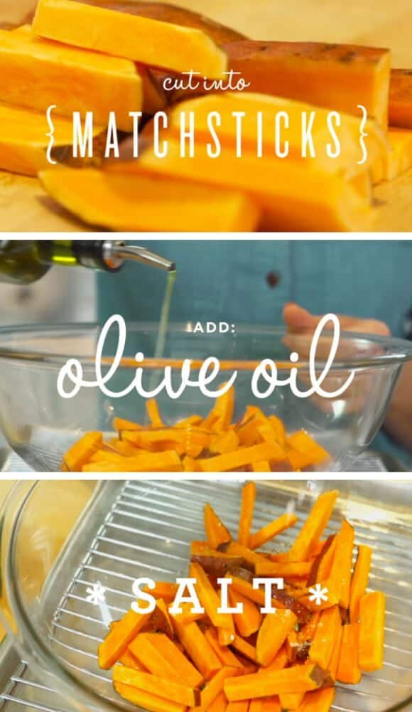 Baked Sweet Potato Fries / @loveandlemons