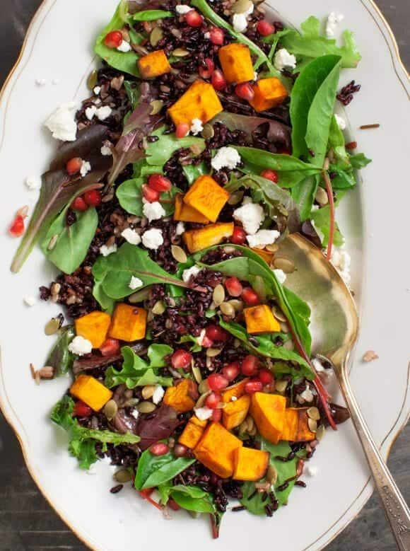 Forbidden Rice Pumpkin Salad w/ Blood Orange Vinaigrette / @loveandlemons