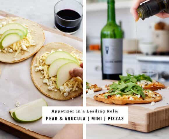 Pear & Arugula Mini Pizzas / loveandlemons.com