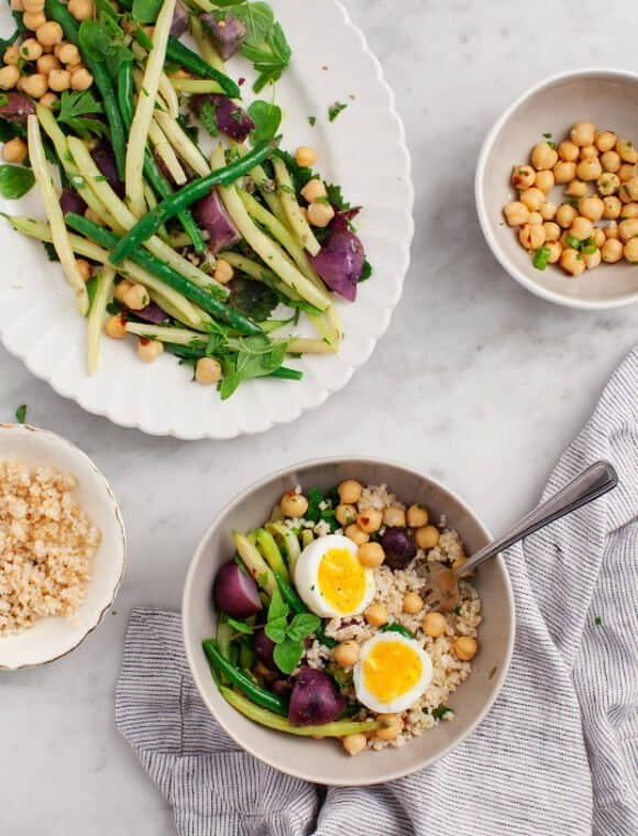 Green Bean & Purple Potato Salad / loveandlemons.com