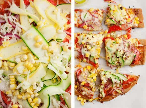 Summer Squash Vegetable Pizza / loveandlemons.com