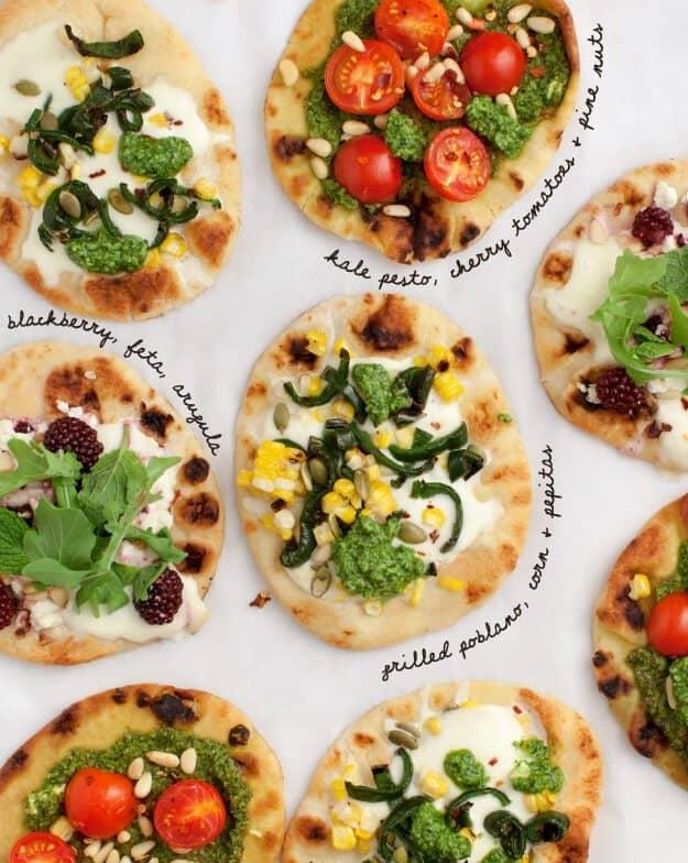 Mix & Match Mini Pizzas / loveandlemons.com