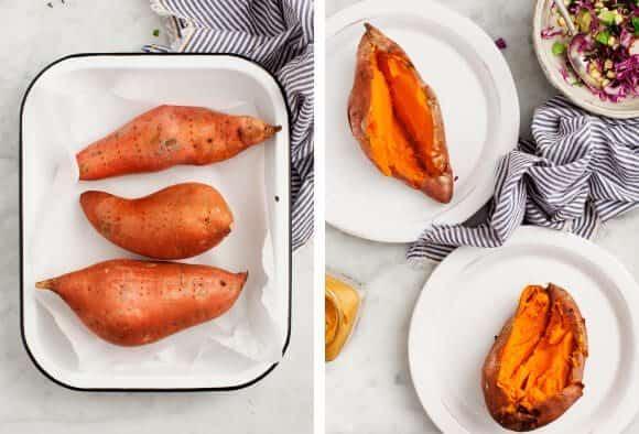 Super Stuffed Chipotle Sweet Potatoes / loveandlemons.com