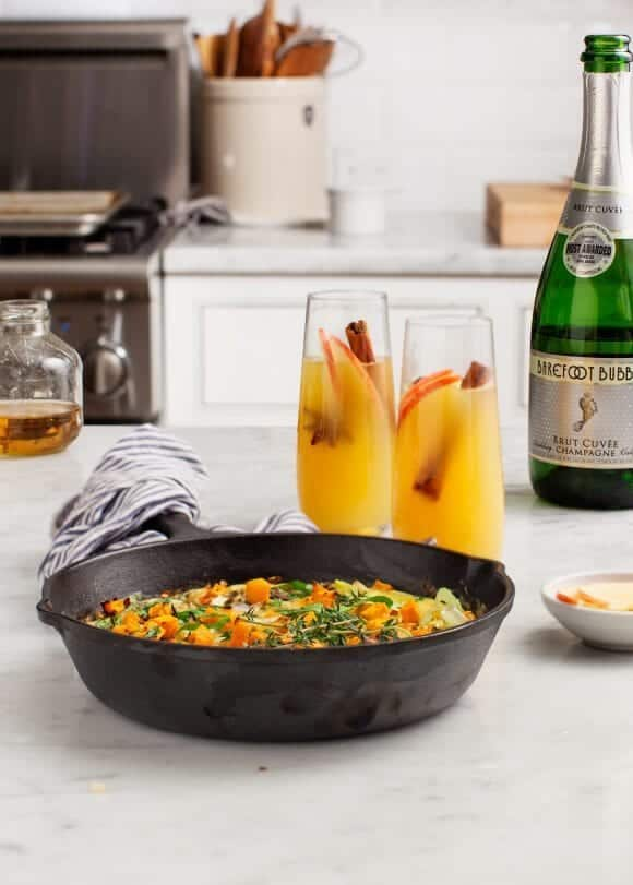 Apple Mimosas & Butternut Baked Eggs / loveandlemons.com