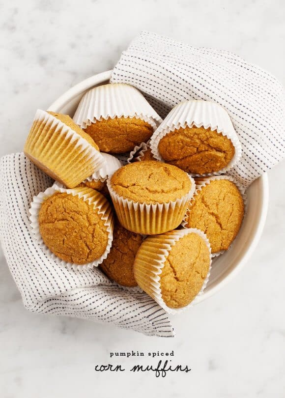 Pumpkin Spiced Corn Muffins / loveandlemons.com