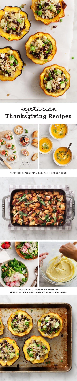Vegetarian Thanksgiving Recipes / loveandlemons.com