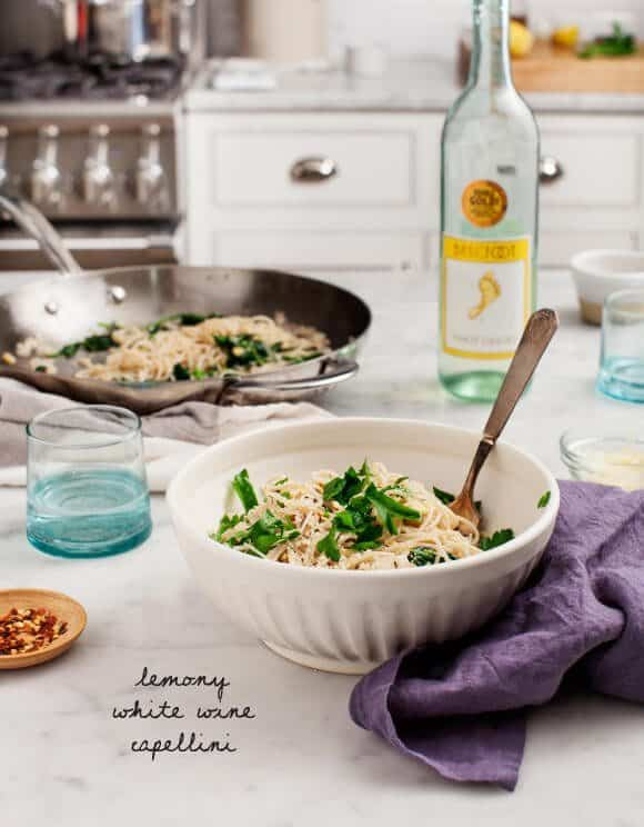 Lemony White Wine Capellini / loveandlemons.com