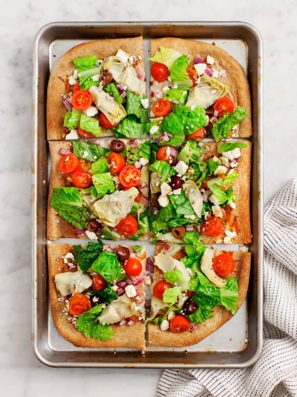 Greek Salad Flatbread