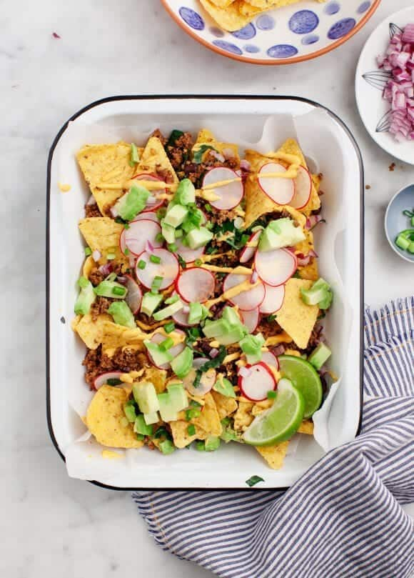 Healthy Loaded Vegan Nachos