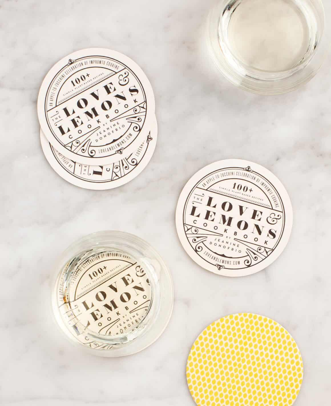 Love & Lemons 2-sided coasters - FREE GIFT with your book pre-order