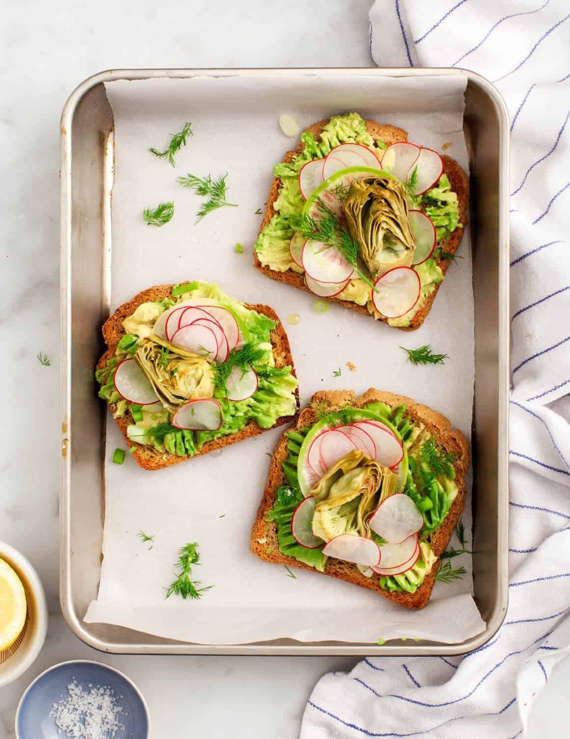 Artichoke Avocado Toast
