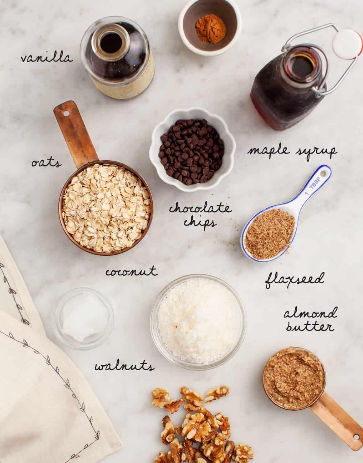 No-Bake Almond Butter Oatmeal Bites