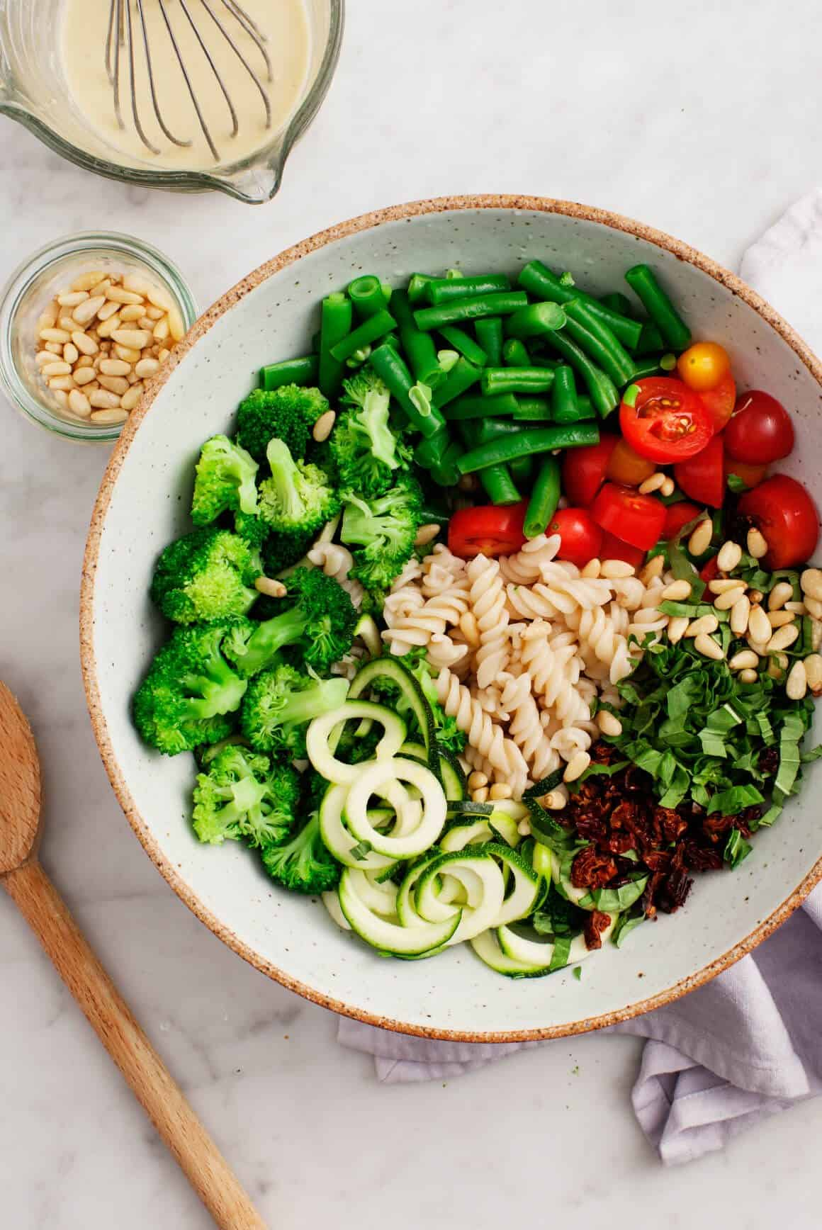 Broccoli Tahini Pasta Salad