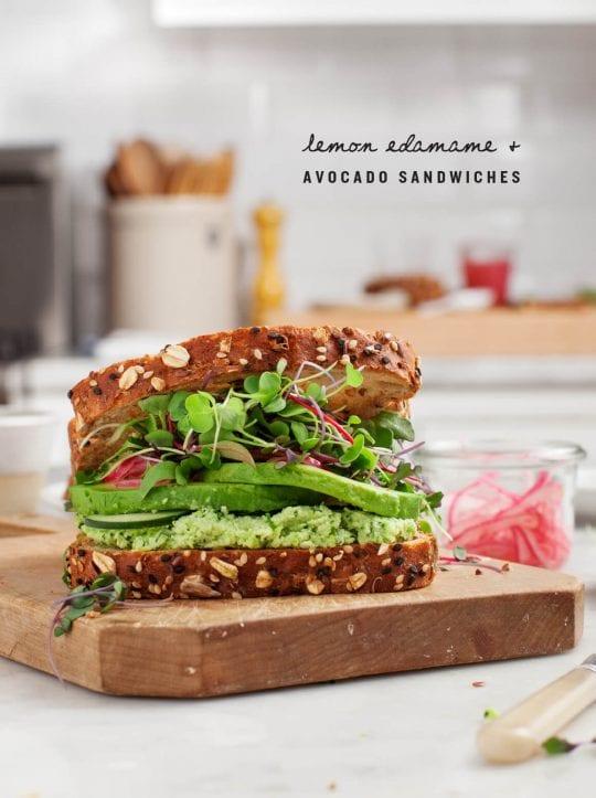 Lemon Edamame Avocado Sandwiches Recipe Love And Lemons