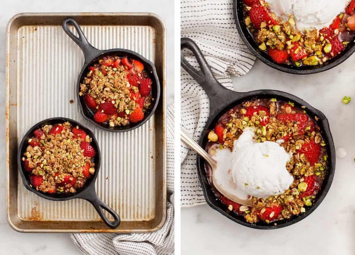 Strawberry Pistachio Crumble