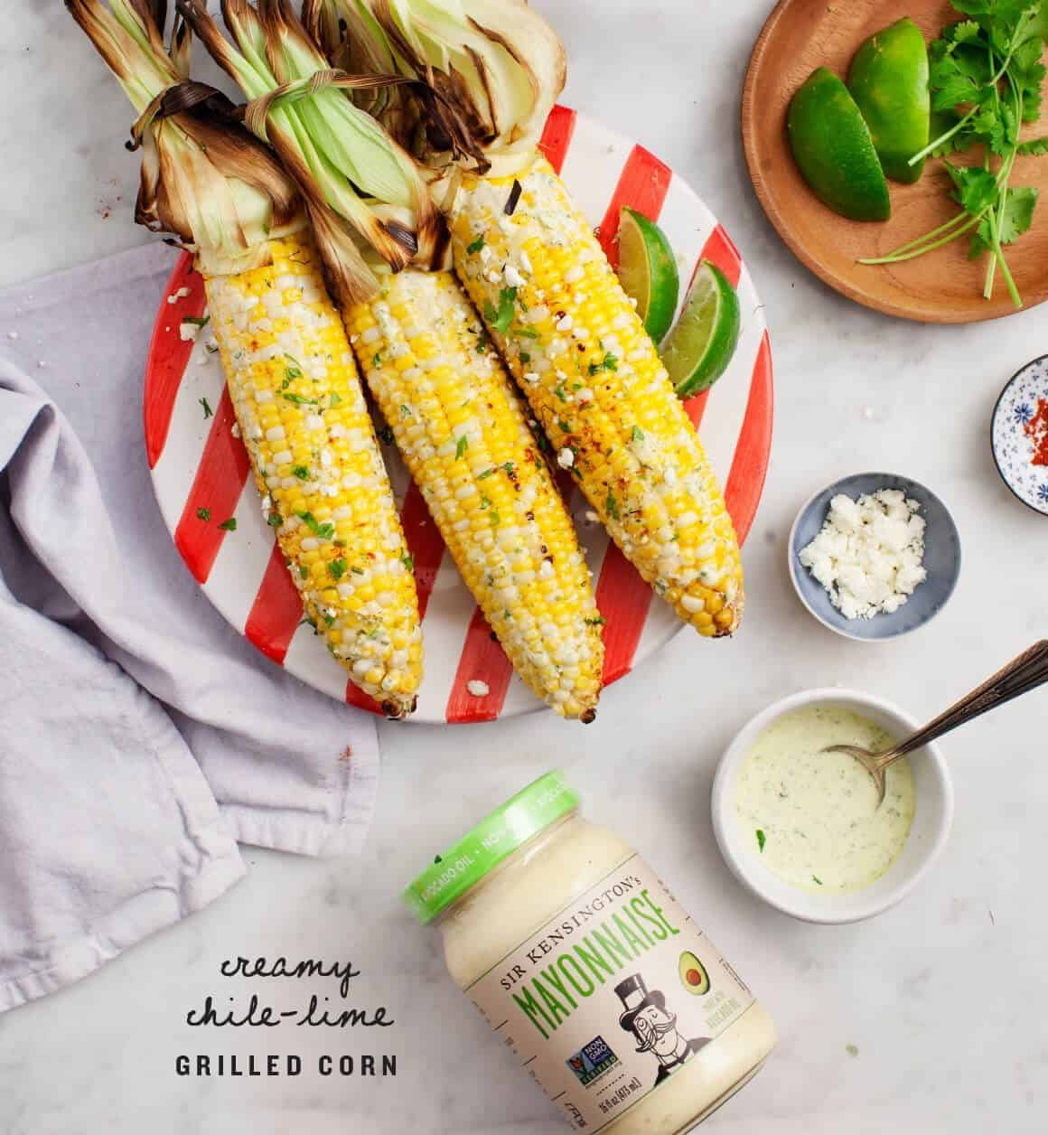 Chile Lime Grilled Corn on the Cob