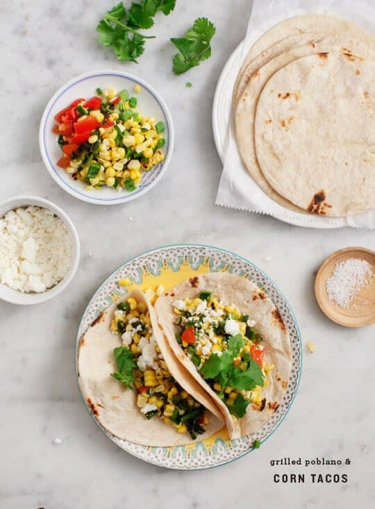 Grilled Corn & Poblano Tacos