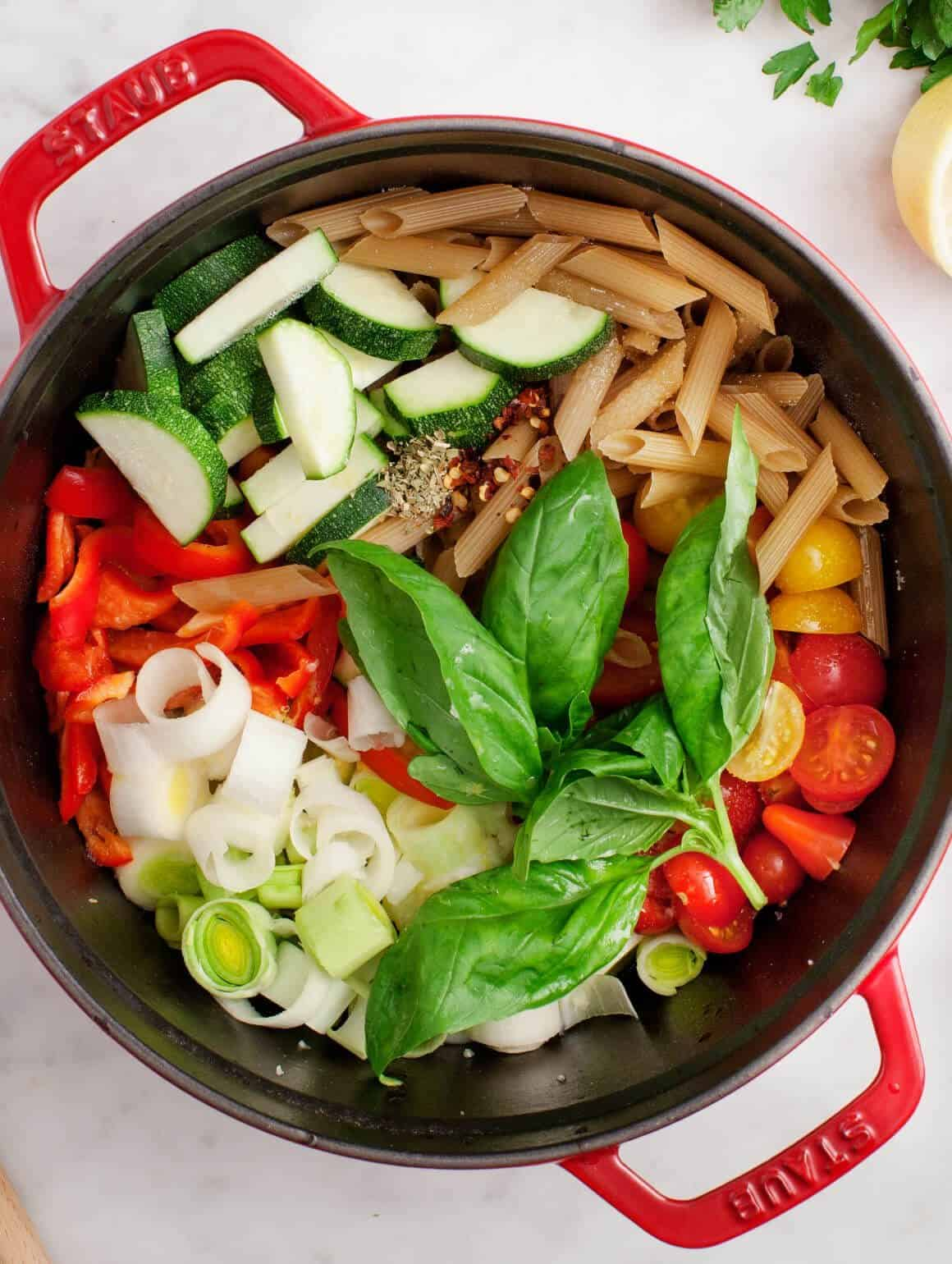 One Pot Vegetable Penne Pasta