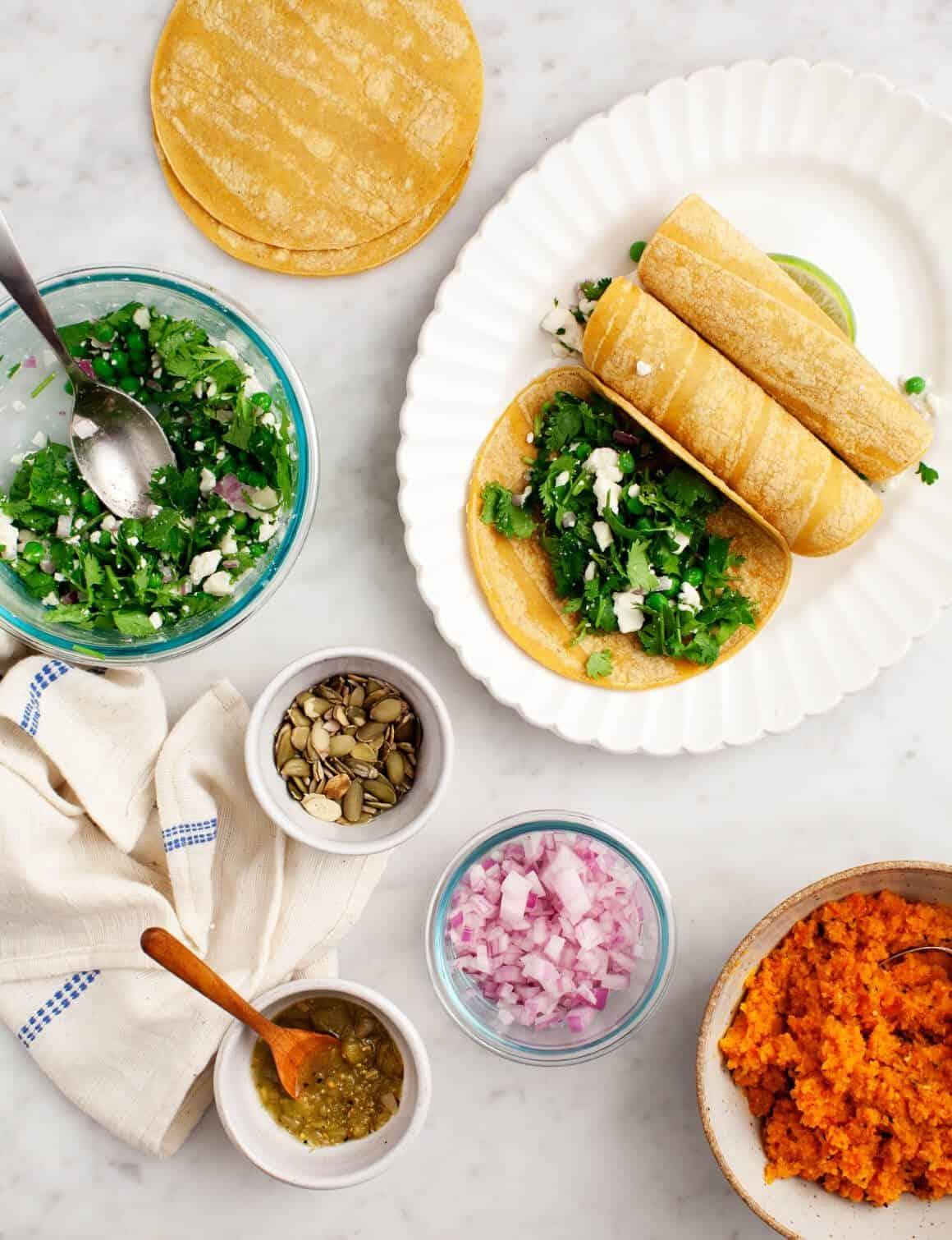 No-Bake Sweet Pea Enchiladas from Modern Potluck