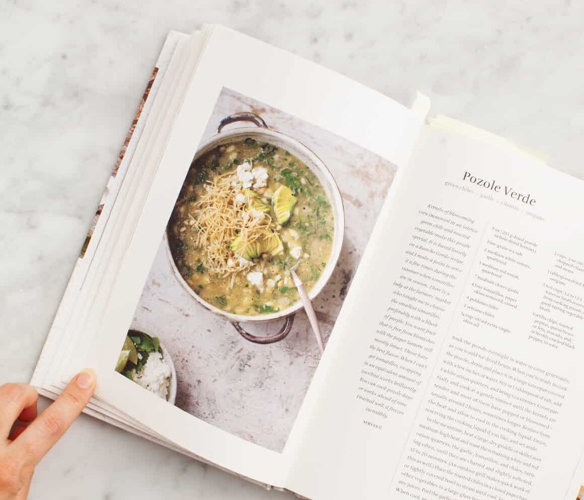 Spicy Green Soup from Near & Far by Heidi Swanson