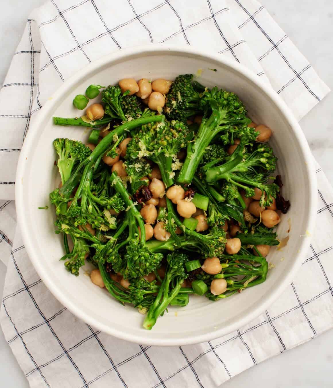 Jenny's Broccolini Chickpea Pizza
