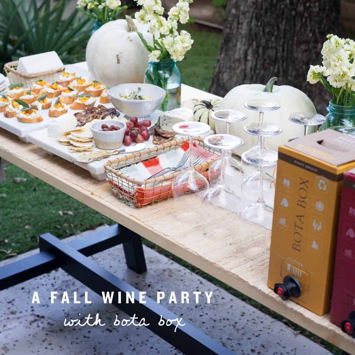 A Fall Wine Party